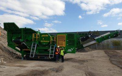 MGL Group take delivery of a new McCloskey J45 Jaw Crusher